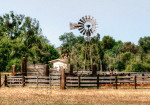 rustic, architecture, wind mill, ranch