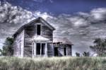 Surreal, rustic, abandoned, farm house, Nebraska