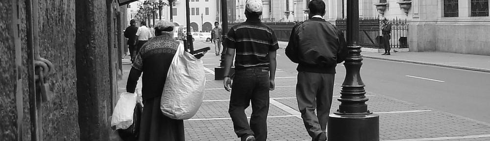 people, street scenes, Lima Peru