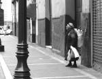people, street scenes, old lady, Lima Peru