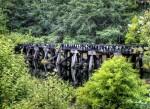 rail road, bridge, trestle, rustic