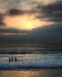 Sunset, pacific ocean, San Diego, California