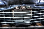 antique, old truck, auto grill